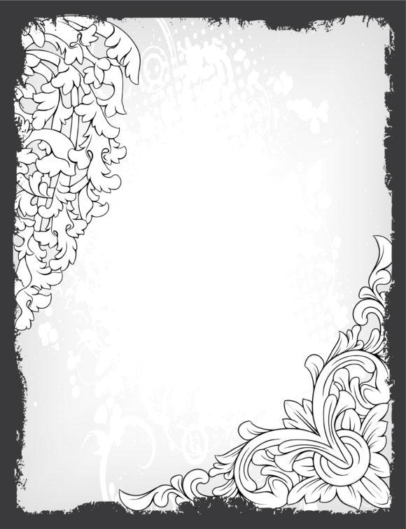 Background Vector Artwork Grunge Floral Background Vector Illustration 14 02 2011 58