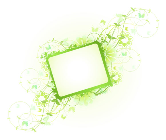 Floral Vector Graphic: Vector Graphic Spring Floral Frame 14 02 2011 62