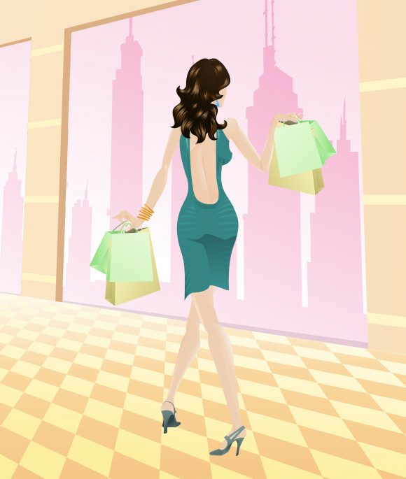 Illustration Vector Illustration Shopping Girl Vector Illustration 5