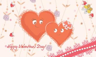 Vector Hearts In Love Vector Illustrations vector