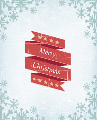 Christmas Vector Illustration With Ribbon Vector Illustrations vector