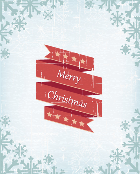 Christmas Vector Illustration With Ribbon 14 12 2012 102