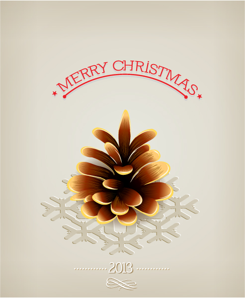 Astounding December Vector Graphic: Christmas Vector Graphic Illustration With Pine Cone 1