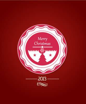 Christmas Vector Illustration With Christmas Badge Vector Illustrations vector