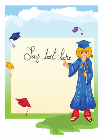 Graduate Girl Vector Illustration Vector Illustrations vector