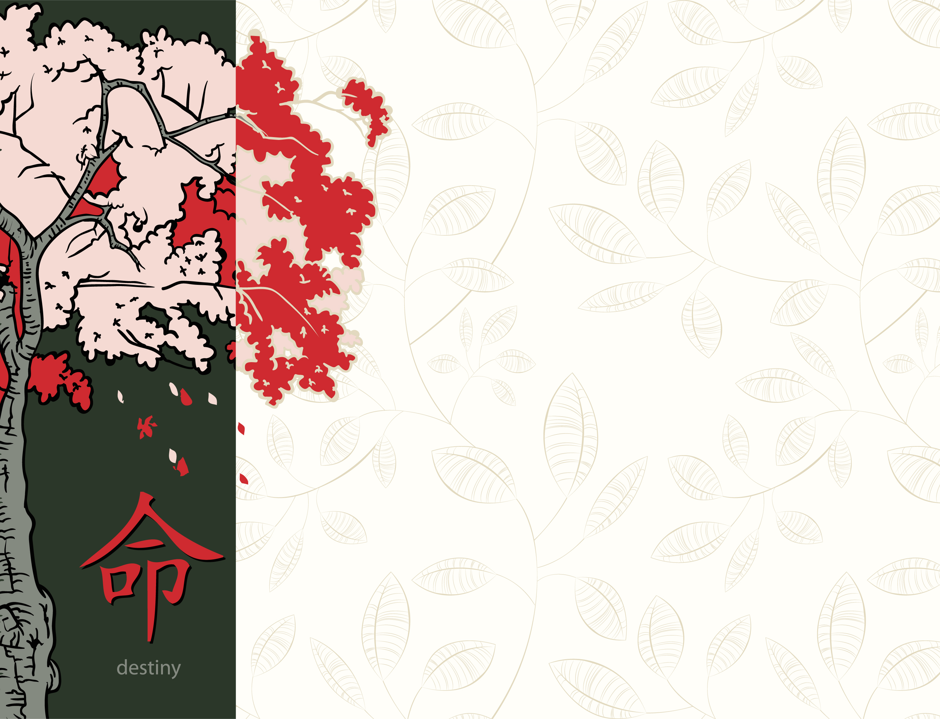 Vector Japanese Floral Background Designious