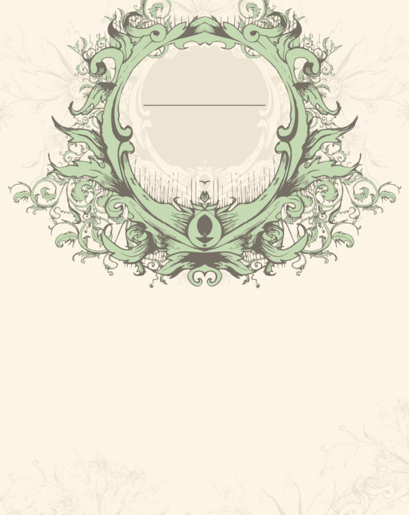 Vector Vector Illustration: Vector Illustration Vintage Invitation With Floral 15 03 2011 54