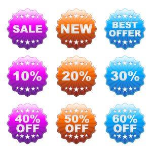 Vector Discount Labels Set Vector Illustrations star