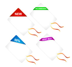 Vector Discount Shopping Tags Set Vector Illustrations vector
