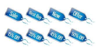 Vector Discount Shopping Tags Set Scenes vector