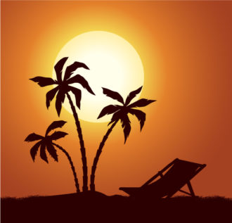 Vector Summer Background With Palm Trees Vector Illustrations hammock