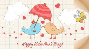 Vector Birds In Love Vector Illustrations umbrella
