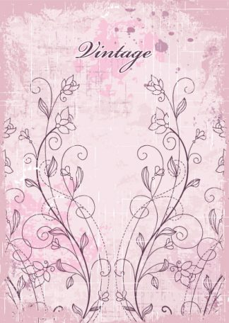 Vintage Background With Floral Vector Illustration Vector Illustrations old
