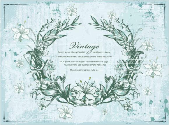 Best Decoration-2 Vector: Vintage Frame With Floral Vector Illustration 1