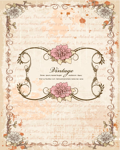 Vintage Frame With Floral Vector Illustration 15 12 2011 113
