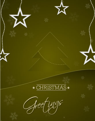 Christmas Vector Illustration With Christmas Tree Ans Stars Vector Illustrations tree