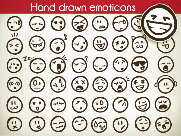 Set Of Vector Emoticons Vector Illustrations ball