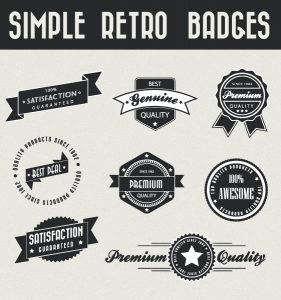 Set Of Vector Badges Vector Illustrations ball