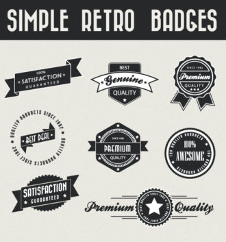Set Of Vector Badges Scenes ball
