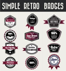 Set Of Vector Badges Vector Illustrations ball