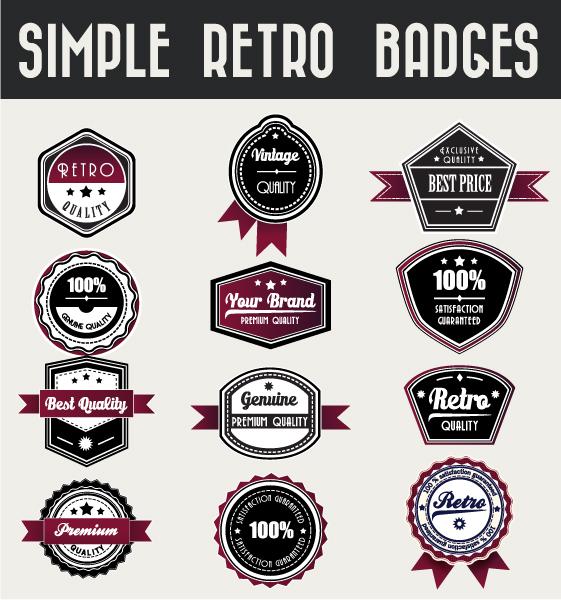 Badges Vector Background Set Of Vector Badges 1