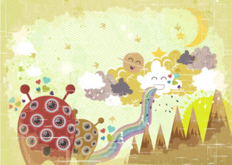 Funny Background Vector Illustration Vector Illustrations old