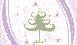 Vector Winter Background With Tree Vector Illustrations star