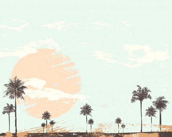 Unique Summer Vector Graphic: Grunge Summer Background Vector Graphic Illustration 5