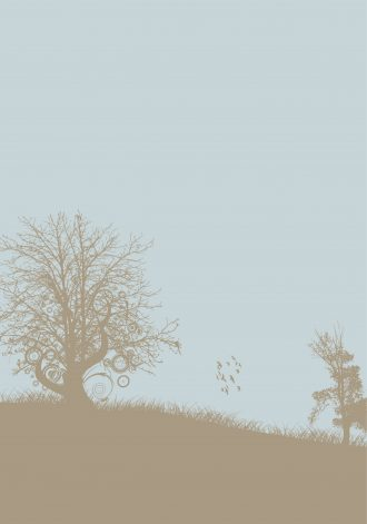 Vintage Background With Trees Vector Illustration Vector Illustrations tree