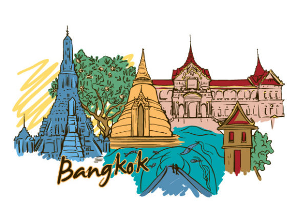 Amazing Creative Vector Illustration: Bangkok Doodles Vector Illustration Illustration 16 05 2011 52