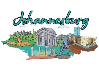 Johannesburg Doodles Vector Illustration Vector Illustrations building