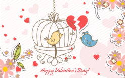 Valentine's Day Vector Background Freebies vector