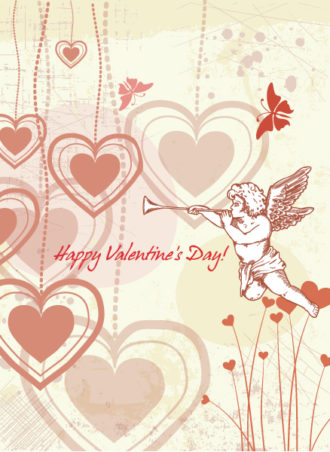 Valentine's Day Vector Background Vector Illustrations vector