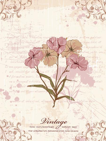 Illustration, Vector, Background Vector Grunge Floral Background Vector Illustration 16 12 2011 110