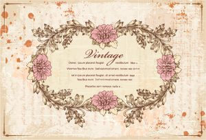 Grunge Floral Frame Vector Illustration Vector Illustrations old
