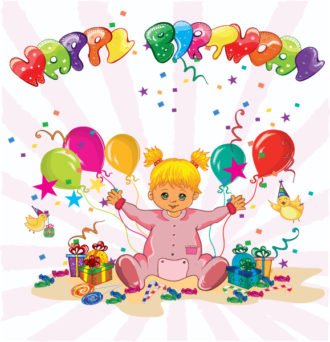 Happy Birthday Vector Illustration Vector Illustrations star