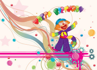 Happy Birthday Vector Illustration Vector Illustrations wave
