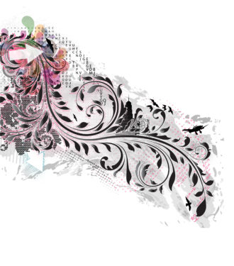Vector Abstract Illustration With Floral Vector Illustrations urban
