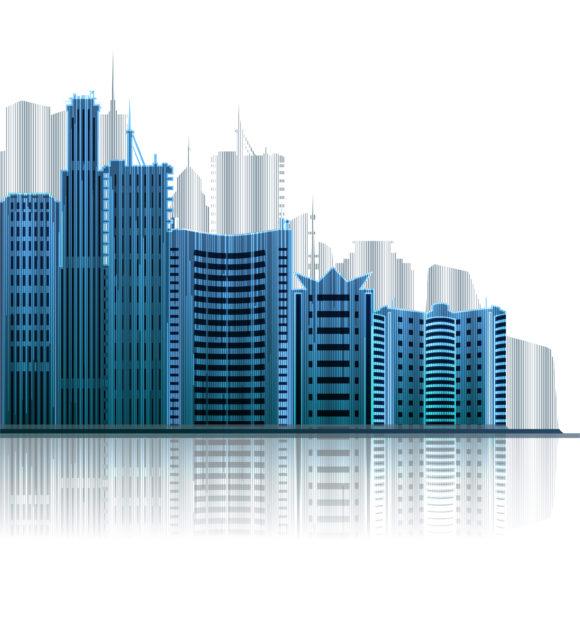 Brilliant Abstract-2 Vector Design: Abstract City Vector Design Illustration 5