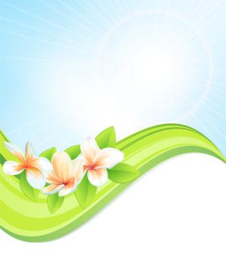 Spring Floral Background Vector Illustration Vector Illustrations floral