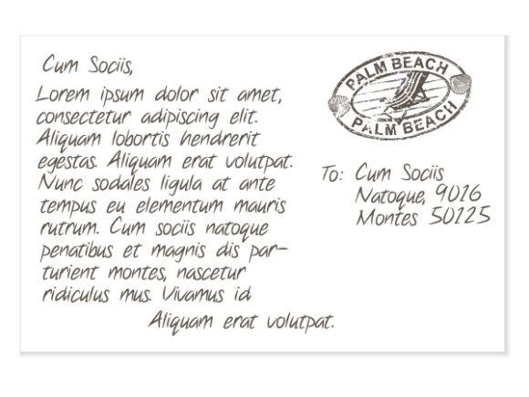 Summer Postcard Vector Illustration Vector Illustrations summer