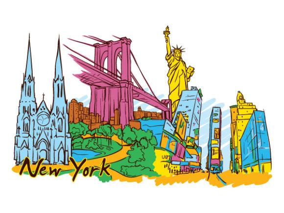 New York Doodles Vector Illustration 17 05 2011 66