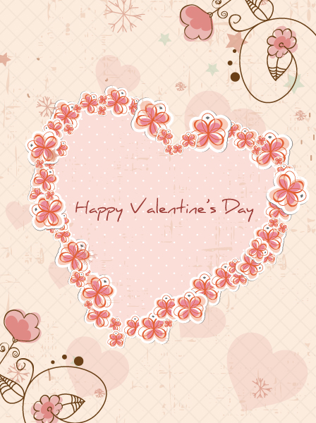 Bold Vector Vector Image: Valentines Day Background Vector Image Illustration 17 11 2011 103