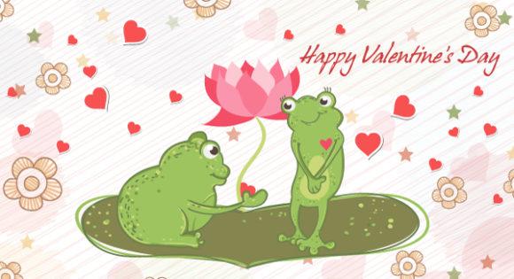 Striking In Vector Image: Frogs In Love Vector Image Illustration 17 11 2011 106