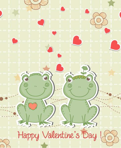 Valentine, In Vector Frogs In Love Vector Illustration 17 11 2011 108