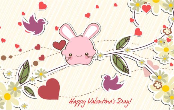 Love, Birds, Colorful Eps Vector Birds In Love Vector Illustration 17 11 2011 109