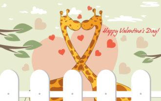 Valentine's Day Background Vector Illustration Vector Illustrations leaf