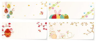Vector Easter Banners With Eggs Vector Illustrations vector