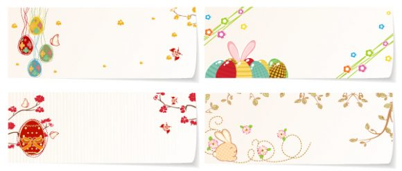 Butterfly, Eggs, With, Banner Vector Image Vector Easter Banners With Eggs 17 1 2012 101