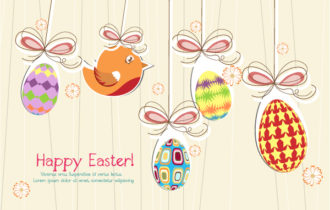 Vector Colorful Background With Birds Vector Illustrations vector